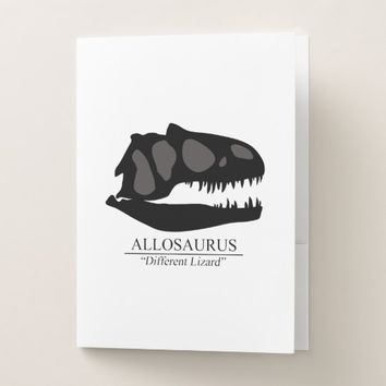 Allosaurus Skull Pocket Folder
