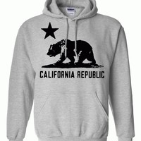 California Flag Black Oversized Silhouette Asst Colors Hoodie by DSC