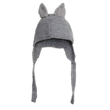 Hat with ears knitted for kids children 6-7 y.o