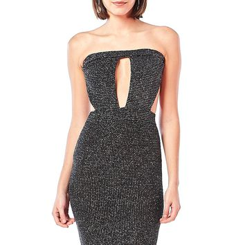Night Out Cutout Sparkle Midi Dress