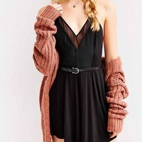 COPE Knit-Mix Skinny Racerback Fit + Flare Dress-