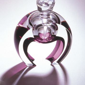 Horseshoe Perfume by Kevin Kutch Mary Ellen Buxton: Art Glass Perfume Bottle | Artful Home