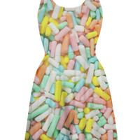 Pastel Sprinkles Rainbow Skater Dress