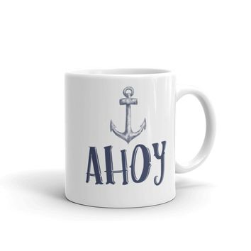 Ahoy Anchor Pirate Mug