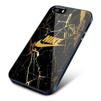 Top Famous Hot Nike Gold Marble Logo Fit Hard Case for iPhone 7 7+ Cover