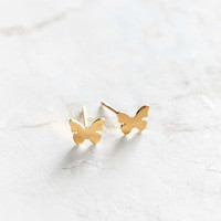 Seoul Little 24k Gold-Plated Butterfly Post Earring - Urban Outfitters