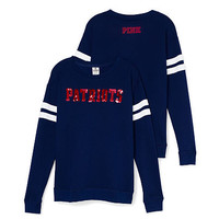 New England Patriots Bling Crewneck Tee