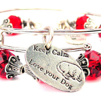Keep Calm And Love Your Dog 2 Piece Collection