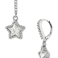 BetseyJohnson.com - ICONIC CRYSTAL STAR EARRING CLEAR