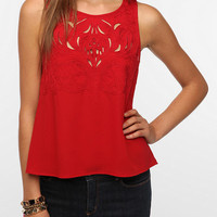 Pins and Needles Embroidered Cutout Blouse