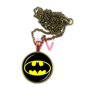 MAZZ-0465 Batman logo necklace moive jewelry handmade necklace = 1927932932