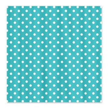 Blue And White Polka-dot Shower Curtains By KCavender Designs