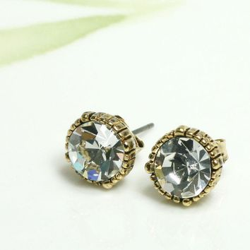 Vintage style mini faceted stud earrings/choose your by laonato