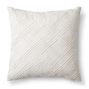 Threshold™ Maize Embroidered Decorative Pillow - Tan (Square)