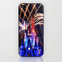 Walt Disney World Christmas Eve Fireworks iPhone & iPod Skin by xjen94 | Society6