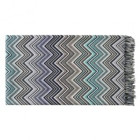 Perseo Throw, 170 Blue by Missoni Home Throws + Blankets | YLiving