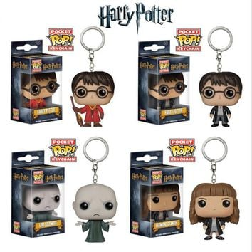 Harry Porter Funko Pop game of thrones keychain Thor Hulk Captain America Deadpool the walking dead Doctor Who key ring