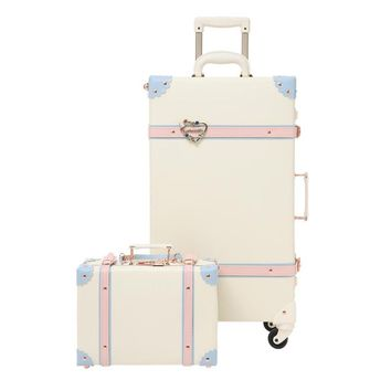 2019 luggage rolling hardside PU girls spinner suitcase with wheels 24inch luggage sets Kids children