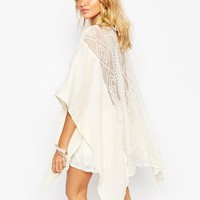 Surf Gypsy Embroidered Mesh Back Kimono