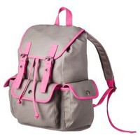 Mossimo Supply Co. Backpack with Neon Trim - Grey