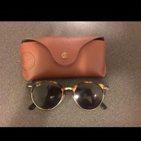 Rayban Sunglasses Clubround Brown