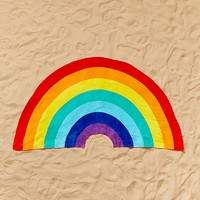 Sunnylife Rainbow Shaped Beach Towel | Urban Outfitters