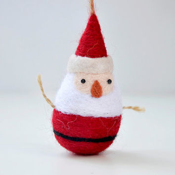 Christmas ornament, Santa ornament, needle felted Christmas ornaments, felt ornaments, felted christmas decorations, Christmas gifts