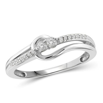 "I Love Us™ Two-Stone Ring 1/10ct tw Diamonds 14K White Gold or Yellow Gold  ""My Best friend is My true love™"""