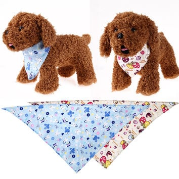 Printed Pet Dog Collar Bib Dog Saliva Towel Cotton Triangular Bandage Scarf for Puppy Dogs Pet Dog Accessories