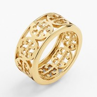 Tory Burch 'Kinsley' Logo Band Ring