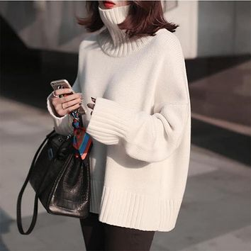 Oversized Turtleneck Knitted Sweater