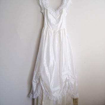 1980s GUNNE SAX Wedding Dress Size 13, SALE