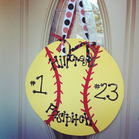 Softball Door Hanger