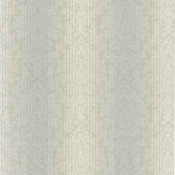 Brewster Wallpaper CCP12162 Alex Blue Damask Stripe
