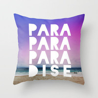 PARADISE Throw Pillow by Leah Flores Designs   Society6