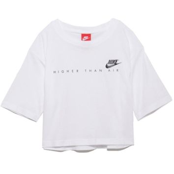 Nike: short belly button casual short sleeve for women