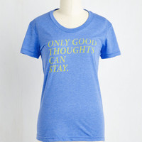 Sayings Mid-length Short Sleeves Write Frame of Mind Tee