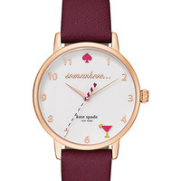 Kate Spade 5 O'clock Metro Watch Merlot ONE