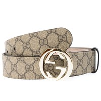 Gucci Belt Sz. 85 Made In Italy Woman Beige 370543KGDHG-9643 PUT OFFER