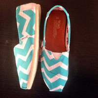 TGIF Sale: Mint Chevron Toms (Women)