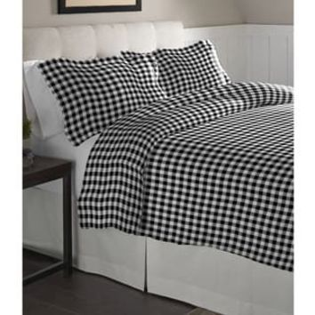 Pointehaven Milton Oversized Cotton Flannel Duvet Set | Overstock.com Shopping - The Best Deals on Duvet Covers