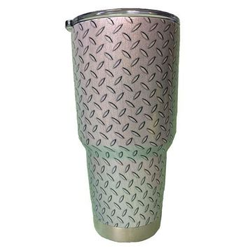 Ash Grey Diamond Plate Tumbler Warehouse Tumbler