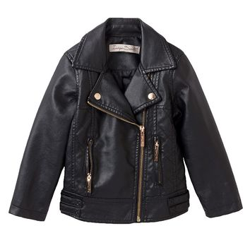 Indigo Saints Faux-Leather Moto Jacket
