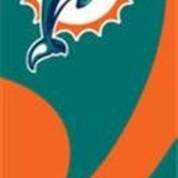 DCCKG8Q NFL Miami Dolphins Party Animal 8 1/2 Ft Team Nylon Flag Pole