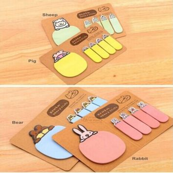 Stickers Cute Animal Kraft Paper Mini Sticky 4 Styles Notes Memo Pad Gift Stationery
