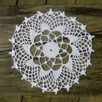 Crochet Simple White Medallion Doily