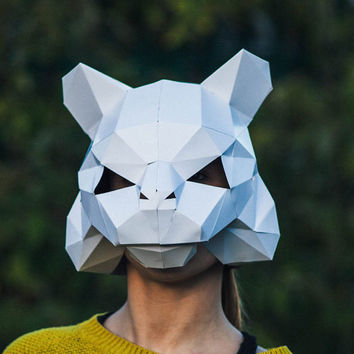 Paper Tiger, Papercraft Template, Festival Mask, DIY Instant Download