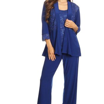 Mother of the Bride Formal Pant Suit