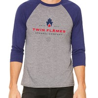 Twin Flames Apparel Color - Unisex 3/4 Sleeve Raglan Fitted