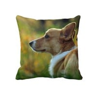 Super Sweet Corgi Throw Pillow from Zazzle.com